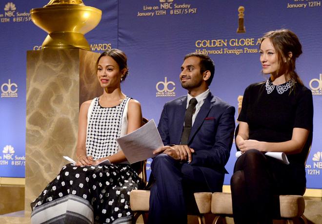 Golden Globes - Zaldana - Ansari - Wilde