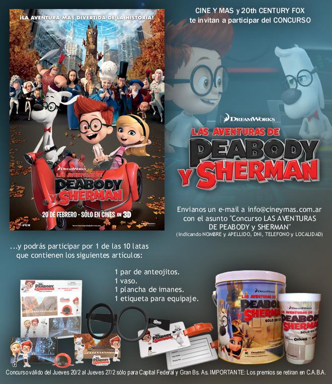 Concurso La Aventuras de Peabody y Sherman