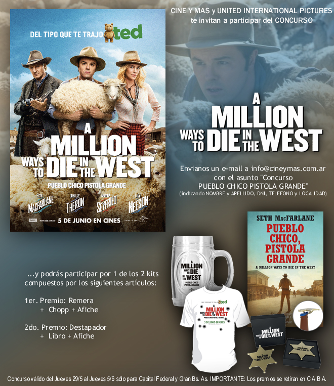Concurso A Million Ways to Die in the West