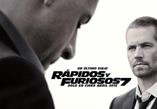 Afiche - Rapidos y Furiosos 7-