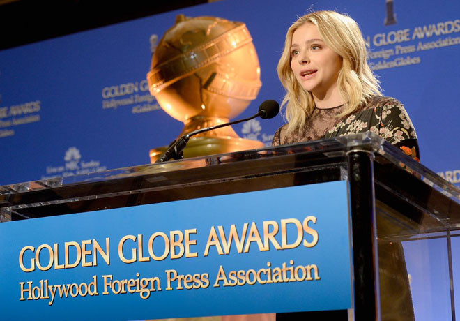 Globos de Oro - Anuncio Nominaciones - Chloe Grace Moretz