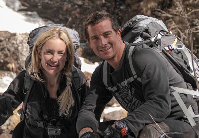 Discovery Channel - Salvajemente Famosos - Bear Grylls - Kate Hudson