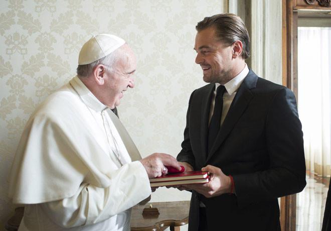 Papa Francisco - Pope Francis - Leonardo DiCaprio