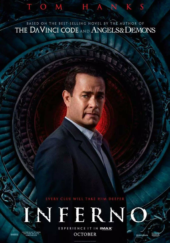 Afiche - Inferno - Tom Hanks - Dan Brown