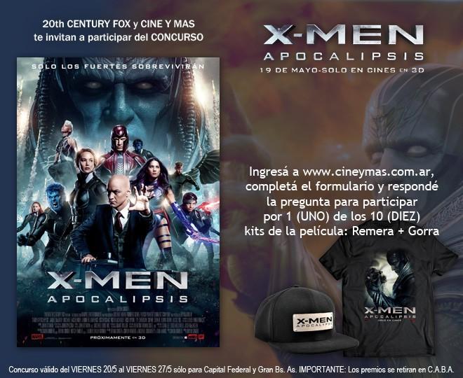 Concurso X-Men Apocalipsis
