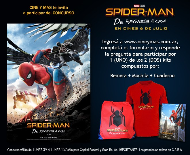 Concurso Spider-Man De Regreso a Casa