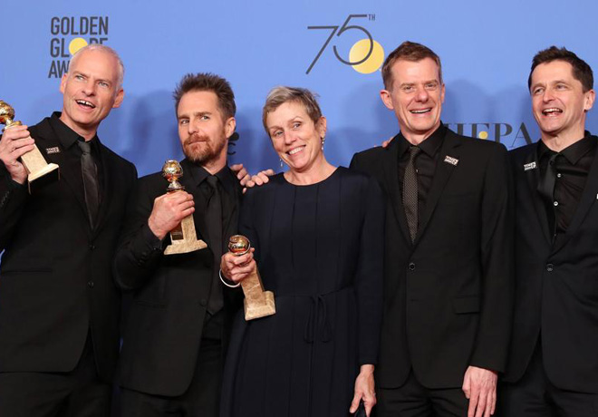 HFPA - Golden GLobes - Globos de Oro - Three Billboards