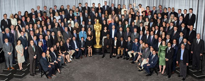 Nominees for the 90th Oscars® were celebrated at a luncheon held at the Beverly Hilton, Monday, February 5, 2018. The 90th Oscars will air on Sunday, March 3, live on ABC. Front Row Left to Right: Mike Meinardus, Evelyn O'Neill, Glen Gauthier, Ziad Doueiri, Katja Benrath, Lou Sheppard, Marco Morabito, Brad Zoern, Scott Neustadter, Laura Checkoway, Kobe Bryant, Ildikó Enyedi, Raphael Saadiq, Paul Denham Austerberry, Josh Lawson, Michael Green, Vanessa Taylor, James Mangold, Richard King and Reed Van Dyk Second Row: Thomas Lennon, Peter Spears, Sidney Wolinsky, Jakob Schuh, Scott Frank, Jan Lachauer, Scott Benza , Darla K. Anderson, Alex Gibson, Gary Rizzo, Daniel Phillips, Laurie Metcalf, Nora Twomey, David Malinowski, Luis Sequeira, Christopher Townsend, Daniel Barrett, Stephen Rosenbaum, Jeff White, Mark Bridges, Tobias Rosen, Joel Whist, Emily V. Gordon and Kumail Nanjiani. Third Row: Ru Kuwahata, Jonathan Amos, Douglas Urbanski, Dana Murray, Justin Paul, Richard R. Hoover, Carter Burwell, Matthew Wood, David Heilbroner, Feras Fayyad, Kate Davis, Eli Bush, Paul Machliss, Eric Fellner, Megan Ellison, Richard Jenkins, Ren Klyce, Timothée Chalamet, Ruben Östlund, Shane Vieau, Dan Laustsen, Elaine McMillion Sheldon, Kerrin Sheldon, Dave Mullins, Rachel Shenton, Mark Mangini, Anthony Leo and Mark Weingarten. Fourth Row: Michael Semanick, Mike Mulholland, Gabriel Grapperon, Lisa Bruce, Kazahiro Tsuji, Julie Goldman, Nathan Robitaille, Bruno Delbonnel, Victor Caire, Sally Hawkins, Diane Warren, Bryan Fogel, Lee Smith, Kevin Wilson Jr., Arjen Tuiten, Daniel Lupi, Saoirse Ronan, JoAnne Sellar, Nelson Ferreira, Ivan Mactaggart, Emilie Georges, Doug Hemphill, Katie Spencer, Daniel Kaluuya, Dennis Gassner, Lucy Sibbick, Gregg Landaker, Christian Cooke, Graham Broadbent, Max Porter, and Stuart Wilson. Fifth Row: Virgil Williams, Mark Mitten, Frank Stiefel, Lori Forte, Chris Overton, Tom McGrath, Glen Keane, Chris Corbould, John Nelson, Dee Rees, Lee Unkrich, Ma