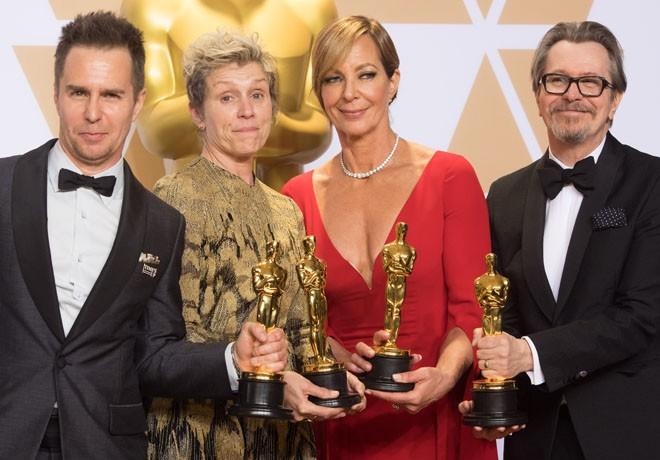 AMPAS - Premios Oscar - Academy Awards - Sam Rockwell - Frances McDormand - Allison Janney - Gary Oldman