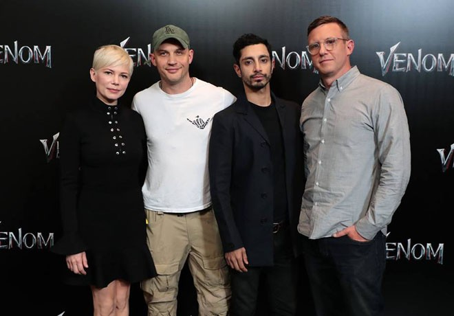 Sony Pictures - CinemaCon 2018 - Venom - Michelle Williams - Tom Hardy - Riz Ahmed - Ruben Fleischer