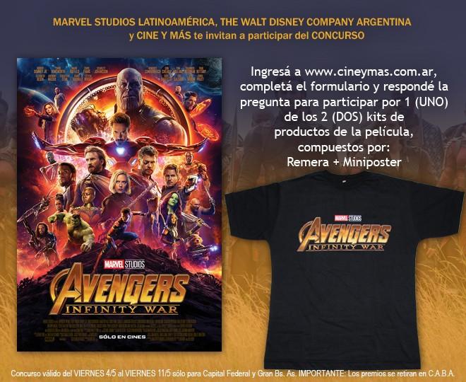 Concurso Avengers - Infinity War