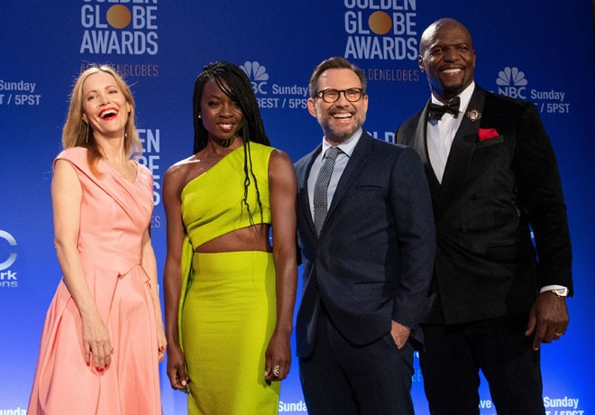 HFPA - Nominaciones GLobos de Oro - Leslie Mann - Christian Slater - Danai Gurira - Terry Crews