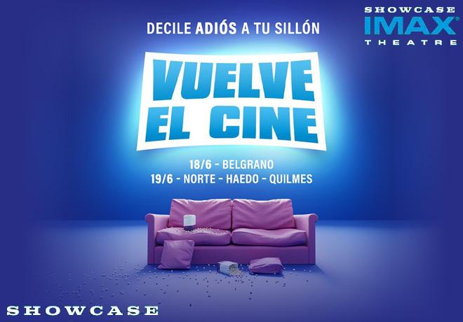 Cines Showcase anuncia la reapertura de sus salas de Capital y Gran Buenos Aires.